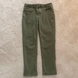Land's End mid-rise straight jeans 6 petite